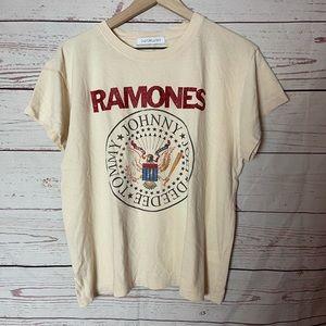 Ramones Leopard Crest Tour Tee Size Large
